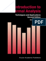 Introdution to Thermal Analysis Techniques and Applications - Michael E. Brown
