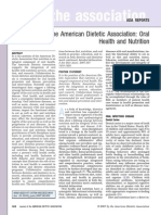 engl 395- american dietetic association- oral health and nutrition