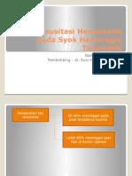 Resusitasi Hemostatik