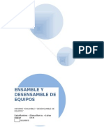 Informe de Ensamble y Desensamble