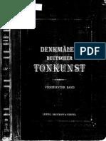Deutscher Tonkunst. Denkmaler