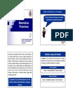 IE 2011 2 Matematicas Financieras Parte 1