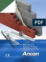 Ancon Wall Ties & Restraint Fixings