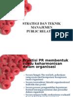 Strategi & Teknik Manajemen Pr