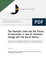 Carlota Perez Cambridge University Crisis and Innovation TUT-ToC WP No2 8