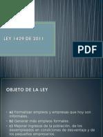 LEY 1429 DE 2011