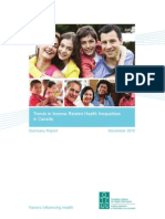 Summary Report Inequalities 2015 - CIHI