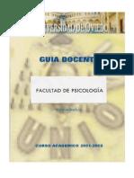 GD 2001-2002 Psicologia