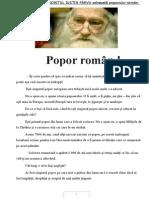 Scrisoarea ARHIMANDRITUL IUSTIN PÂRVU Adresată Poporului Român
