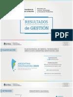 Informe de Gestión Ministerio de Ciencia y Tecnología