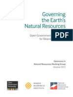 Openness in Natural Resources Working Group Report