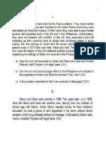 Civil Law Bar 2015 questions