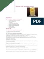 Crème Brûlée Aux Asperges Et Au Cheddar en Verrine