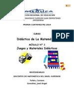 Modulo de Juegos y Materiales de Matematicas