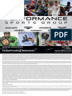 PSG Performance Sports Group Oct 2015 Investor Presentation