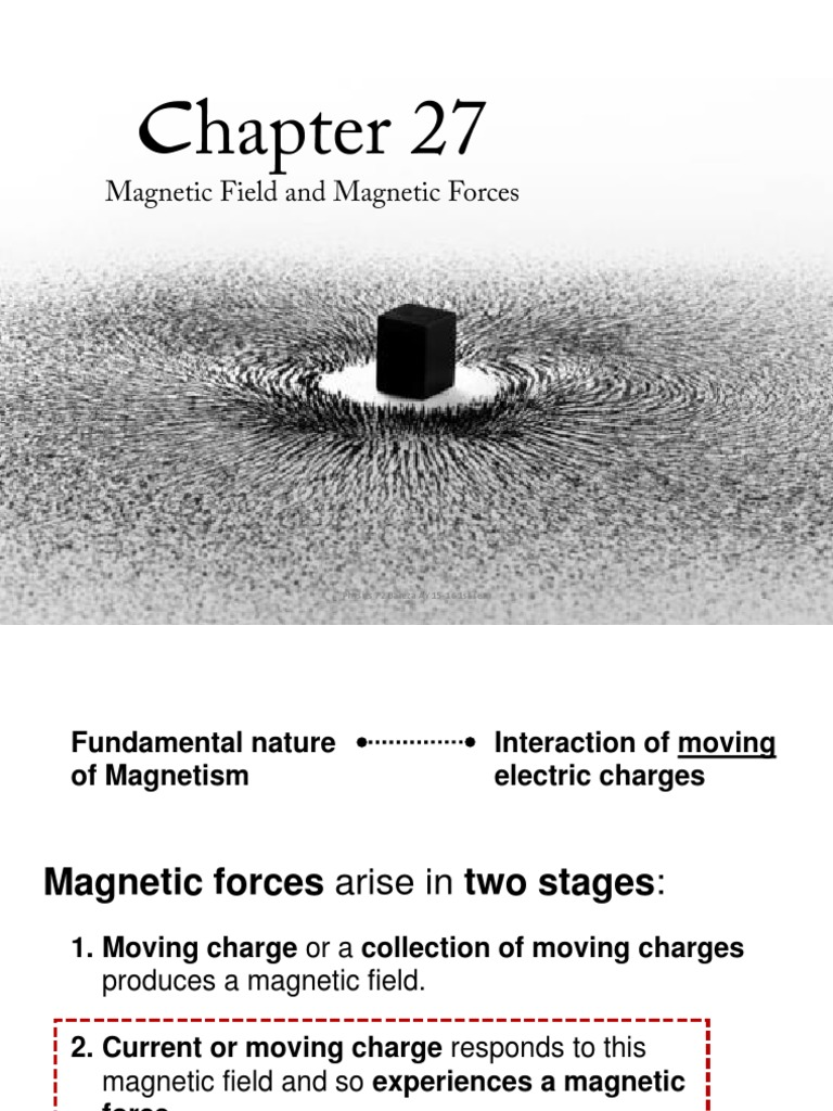 Chapter 27 Magnetic Field and Magnetic Forces | Magnetic Field ...