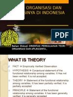 Teori Organisasi Dan Aplikasinya