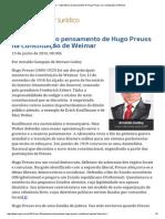 146 - ConJur - Importância Do Pensamento de Hugo Preuss Na Constituição de Weimar