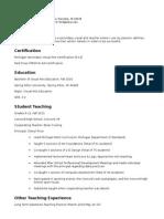 resume  edu 430