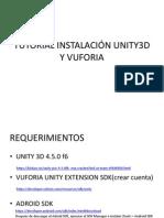 Tutorial Instalación Unity3d y Vuforia