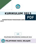 3.5 Pelaporan Hasil Belajar