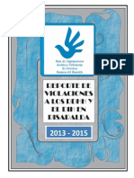 Informe DDHH y DIH Risaralda 2013 - 2015