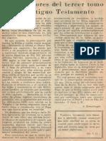 Straubinger - A Los Lectores Del III Tomo Del At