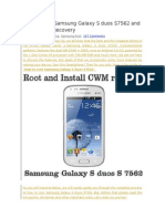 Android book-How to Root Samsung Galaxy S Duos S7562 and Install CWM Recovery