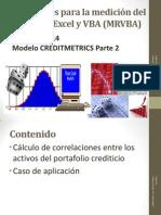 Sesiones 13 y 14 Modelo Creditmetrics Parte 2