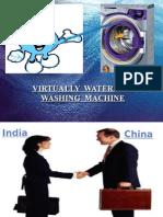 export & import procedure of innovative virtually waterless washing machine