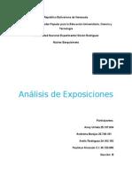 Analisis Exposiciones