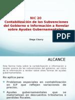 NIC 20 Subvenciones y Ayudas Gubernamentales (1)