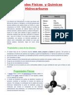 Propiedades Físicas y Químicas Hidrocarburos