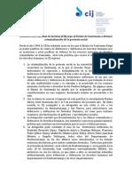 Comunicado Criminalización de La Protesta Social y Visita Parlamentaria Albiol a Guatemala 2015-2