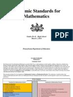 pa core standards mathematics prek-12 march 2014