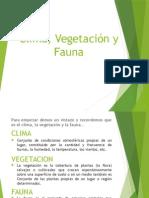 Clima,Vegetacion y Fauna Subir