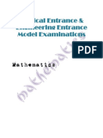 Mathematic Model Paper For Medical and Engineering Entrance Exam