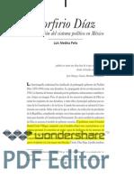 Porfirio Díaz y la creación del sistema político en México