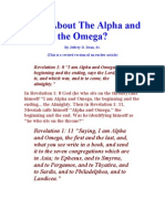 Is Jesus the Alpha and Omega