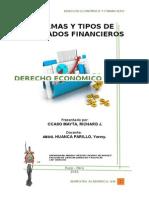 Formas y Tipos de Mercados Financieros
