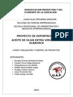 Exportacion de Aceite de Oliva Con Albahaca Terminado