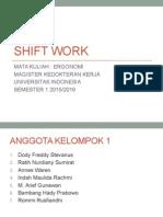 Presentasi Shift Work (Gilir Kerja)
