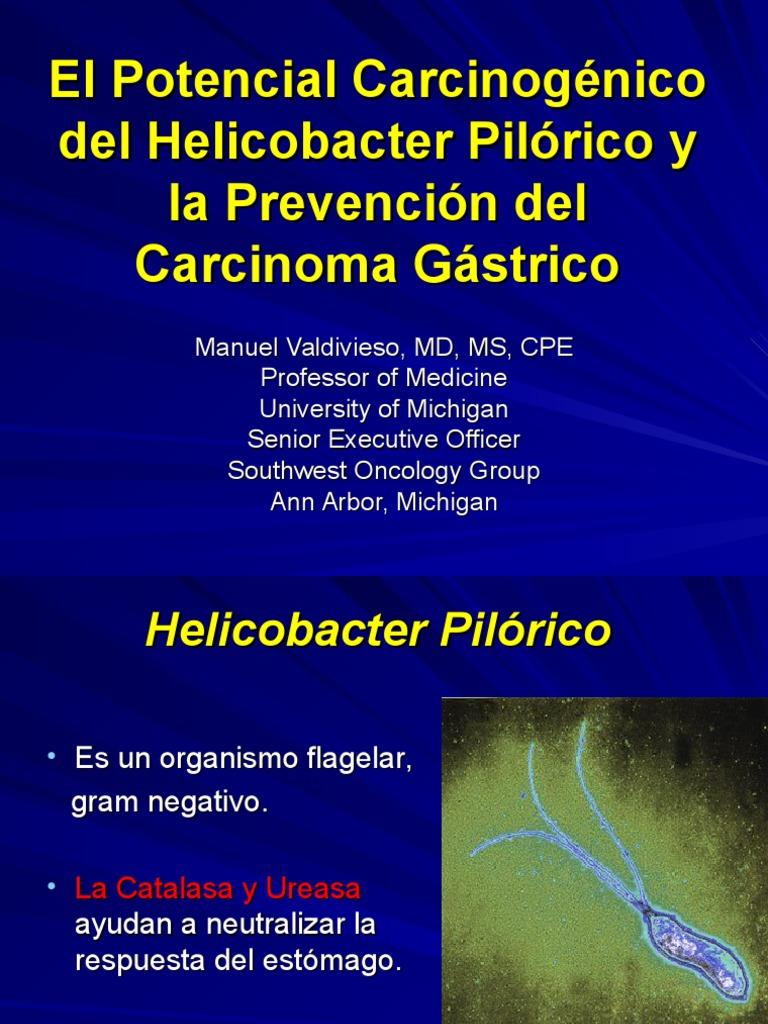 Carcinogenica de H. Pilori