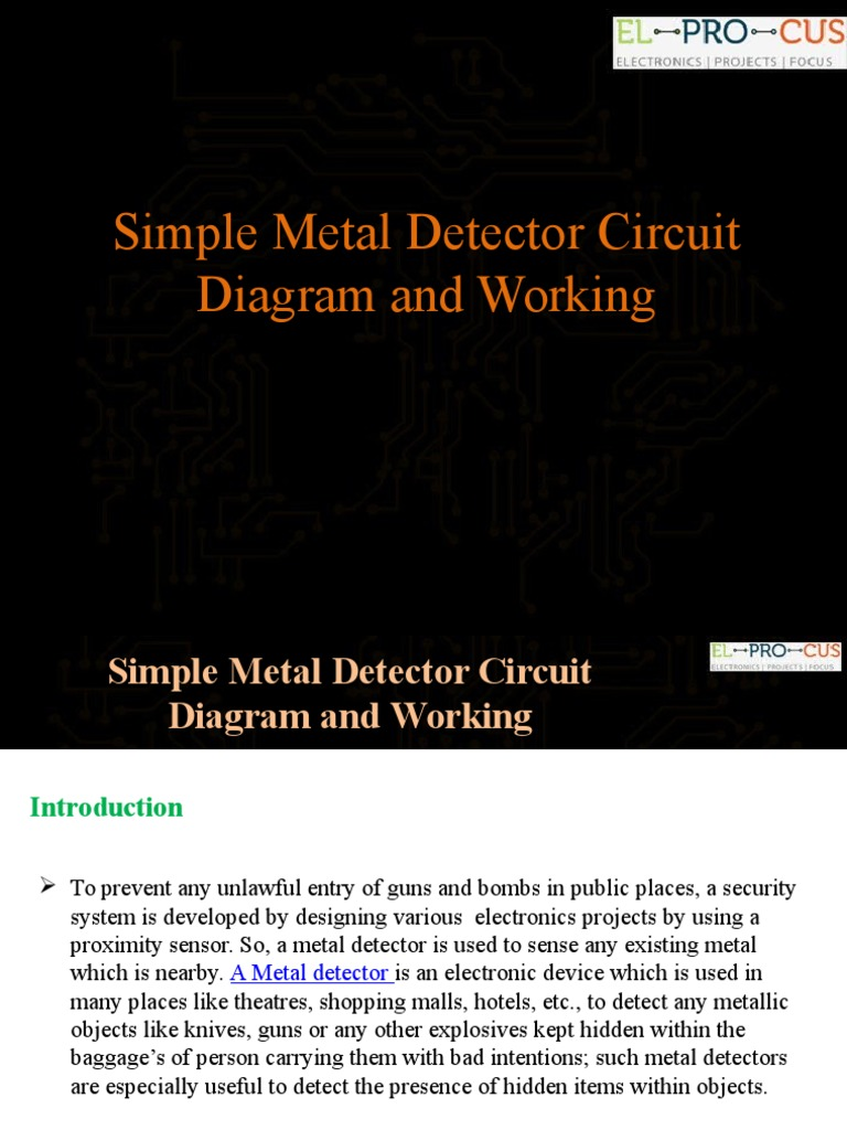 Simple Metal Detector Circuit Diagram And Working Radio Of Project