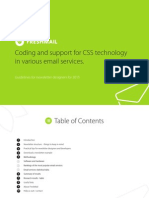 Css for email marketing - report and guide in PDF