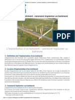 Implantation d'Un Batiment - Comment Implanter Un Batiment _ Génie Civil