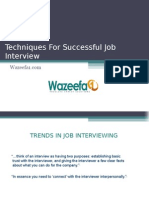 Techniques for Successful Job Interview