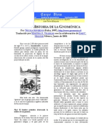 BREVE HISTORIA DE LA GNOMÓNICA