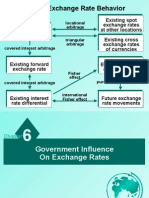 international financial management  chapter 6 - government influence on exchang rate