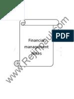 Financial management Notes Anirudh